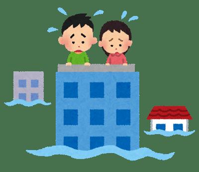 洪水から避難